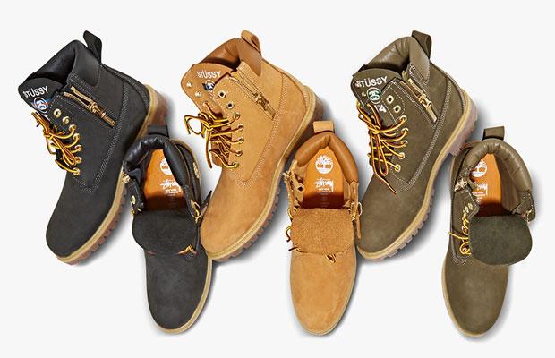 Stussy x Timberland Boots