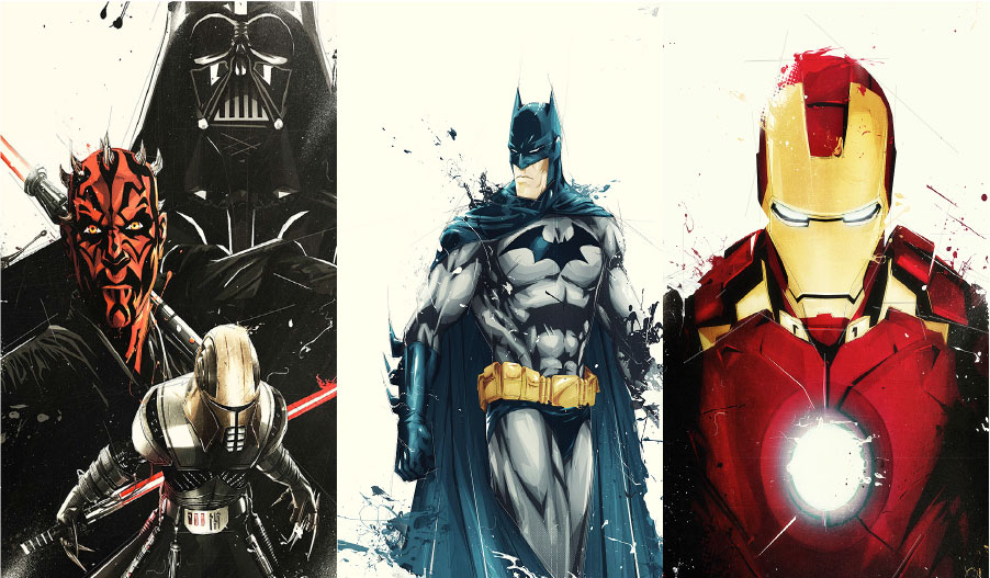 Marvel, Star Wars, DC Comics
