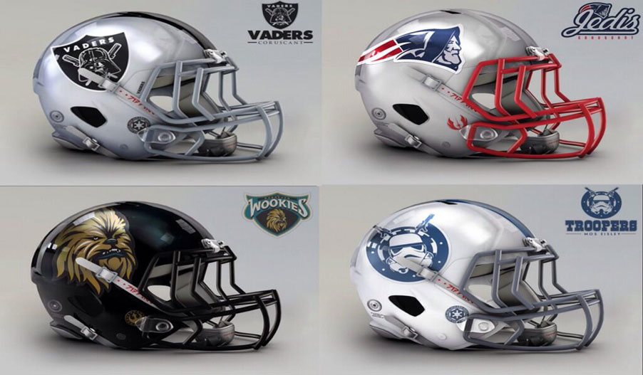 NFL Star Wars Helmets