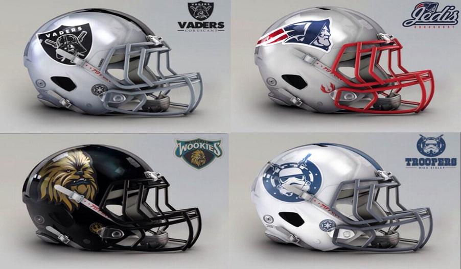 NFL Star Wars Helmets