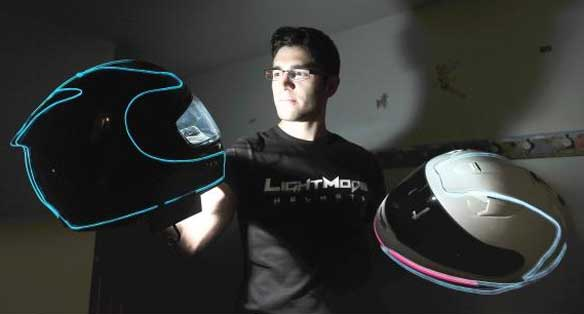 Cascos Luminiscentes LightMode