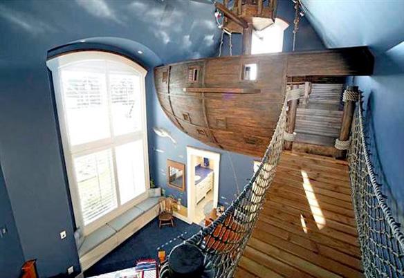 Dormitorio Barco Pirata