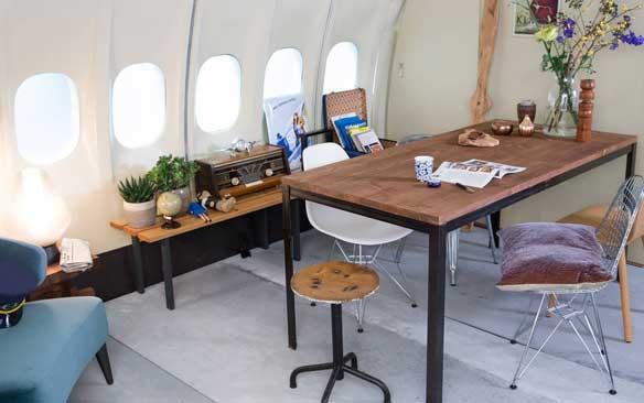 Avion KLM convertido en apartamento